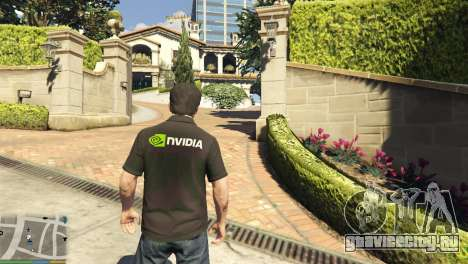 Рубашка поло Nvidia для Майкла для GTA 5 второй скриншот