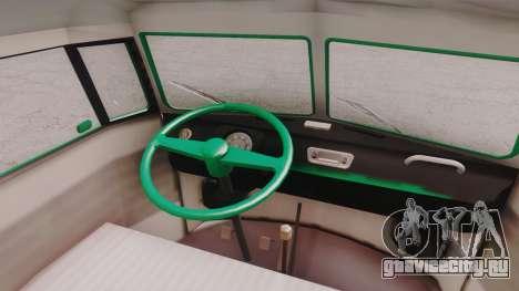 Volkswagen T1 Polizei для GTA San Andreas вид сзади