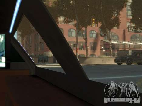 Taxi STRECH для GTA 4 вид сзади