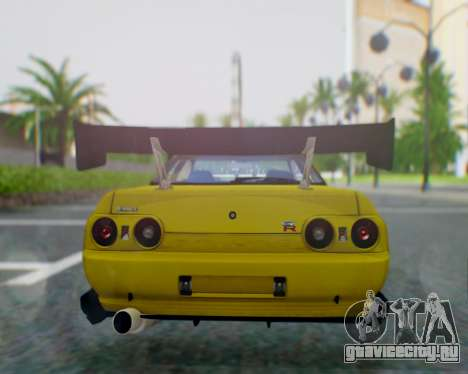 Nissan Skyline R32 GTR для GTA San Andreas вид сзади слева
