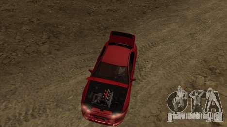 Mitsubishi Galant VR-4 (2JZ-GTE) для GTA San Andreas вид сзади