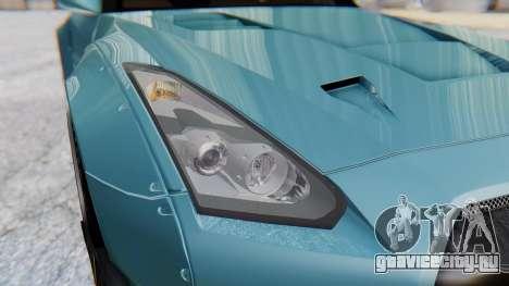Nissan GT-R R35 Rocket Bunny v2 для GTA San Andreas вид изнутри