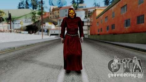 Monje Skull Gold Skin для GTA San Andreas второй скриншот
