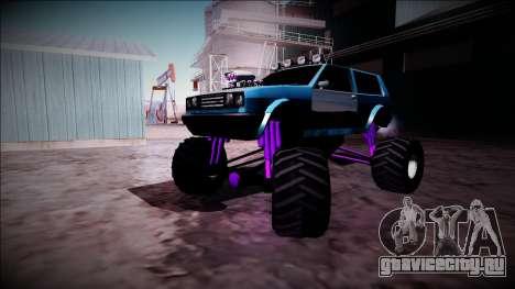 Club Monster Truck для GTA San Andreas вид изнутри