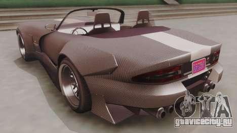 GTA 5 Bravado Banshee 900R Carbon для GTA San Andreas вид сзади слева