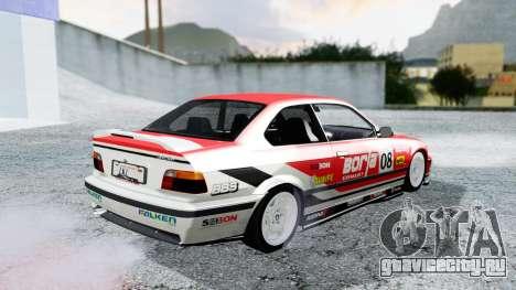 BMW M3 Coupe E36 (320i) 1997 для GTA San Andreas вид снизу