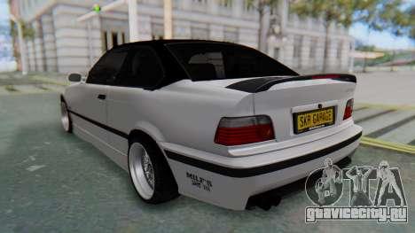 BMW 320i E36 MPower для GTA San Andreas вид сзади слева