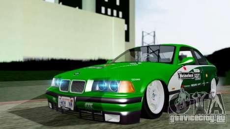 BMW M3 Coupe E36 (320i) 1997 для GTA San Andreas вид сзади