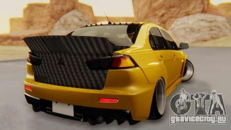 Mitsubishi Lancer Evolution X Stance для GTA San Andreas вид слева