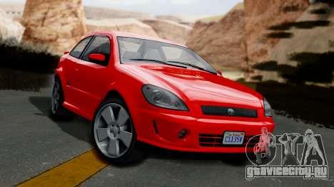 GTA 5 Declasse Premier Coupe IVF для GTA San Andreas