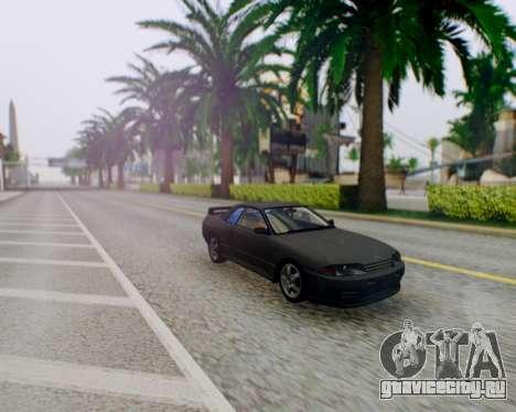 Nissan Skyline R32 GTR для GTA San Andreas вид сзади