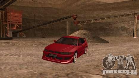 Mitsubishi Galant VR-4 (2JZ-GTE) для GTA San Andreas вид сзади слева