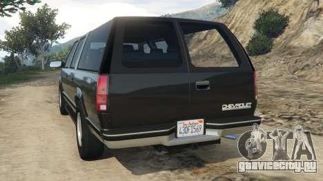 Chevrolet Suburban GMT400 для GTA 5 вид сзади слева