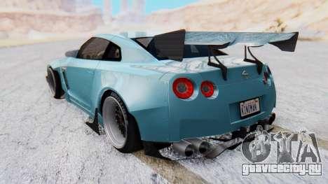 Nissan GT-R R35 Rocket Bunny v2 для GTA San Andreas вид слева