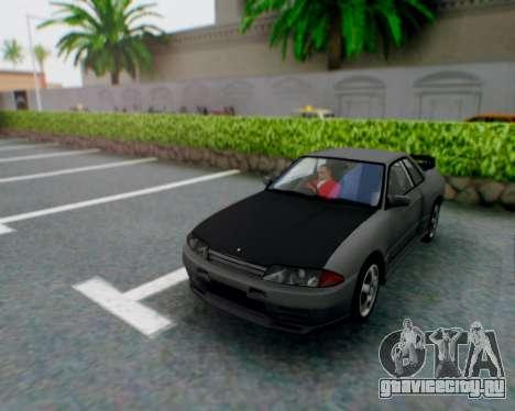 Nissan Skyline R32 GTR для GTA San Andreas вид изнутри