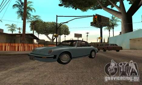 Porsche 911 Targa 1974 для GTA San Andreas вид справа