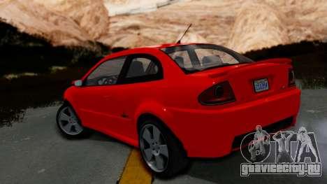 GTA 5 Declasse Premier Coupe IVF для GTA San Andreas вид слева