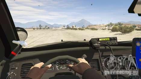 FBI Ford CVPI для GTA 5 вид сзади справа