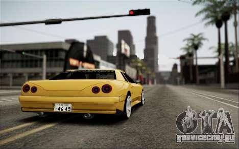 Elegy Speedhunters для GTA San Andreas вид изнутри