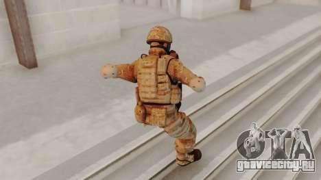 US Army Multicam Soldier Gas Mask from Alpha Pro для GTA San Andreas третий скриншот