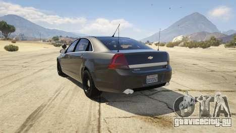 Unmarked Chevrolet Caprice для GTA 5 вид сзади слева