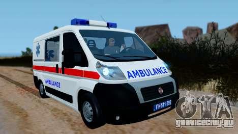 Fiat Ducato Serbian Ambulance для GTA San Andreas