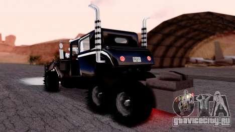 Mad Max The War Rig Bilge Tuning для GTA San Andreas вид слева