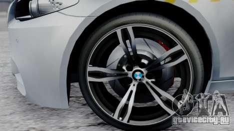 BMW M5 F10 Hungarian Police Car для GTA San Andreas вид справа