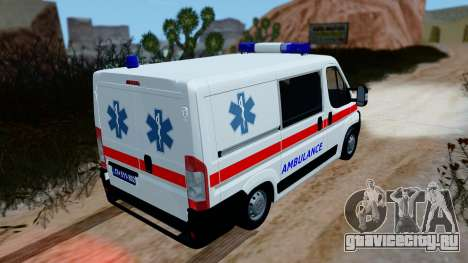 Fiat Ducato Serbian Ambulance для GTA San Andreas вид сзади слева