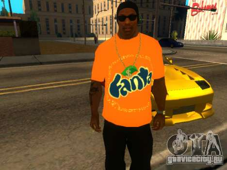 Футболка Fanta для GTA San Andreas