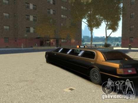 Taxi STRECH для GTA 4 вид слева