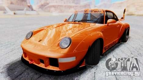 Porsche 993 GT2 RWB GARUDA для GTA San Andreas вид сзади слева