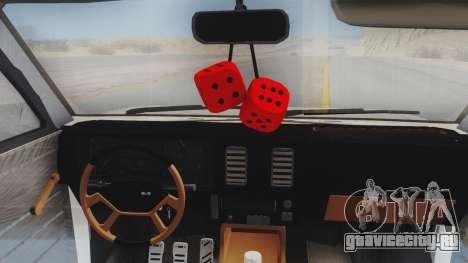 Chevrolet Chevette Stance для GTA San Andreas вид сзади