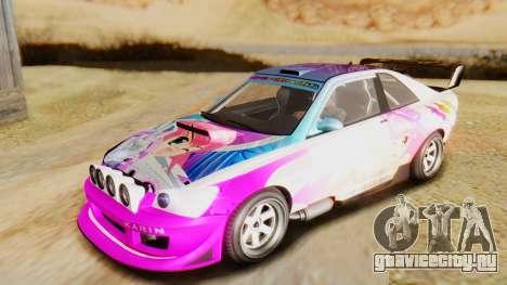 GTA 5 Karin Sultan RS для GTA San Andreas вид сбоку