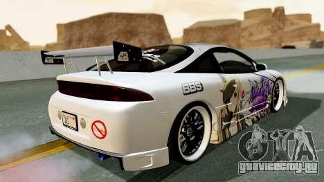 Mitsubishi Eclipse 1999 Mugi Itasha v2 для GTA San Andreas вид слева