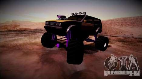 Club Monster Truck для GTA San Andreas вид справа