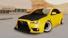 Mitsubishi Lancer Evolution X Stance для GTA San Andreas
