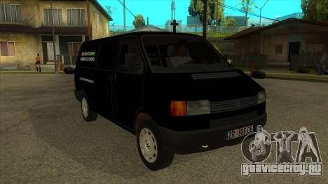 VW T4 Mrtvačka kola для GTA San Andreas вид сзади