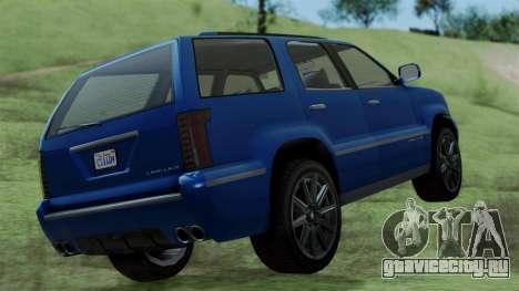 GTA 5 Albany Cavalcade v2 IVF для GTA San Andreas вид сзади слева