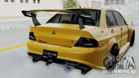 Mitsubishi Lancer Evolution IX MR Edition для GTA San Andreas вид сзади