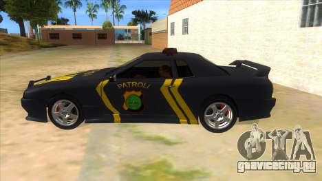 Elegy NR32 Police Edition Grey Patrol для GTA San Andreas вид слева