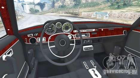 Mercedes-Benz 300SEL 6.3 1972 для GTA 5 вид сзади справа