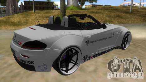 BMW Z4 Liberty Walk Performance Livery для GTA San Andreas вид справа