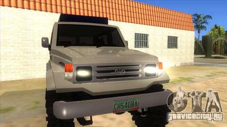 Toyota Machito 4X4 для GTA San Andreas вид сзади