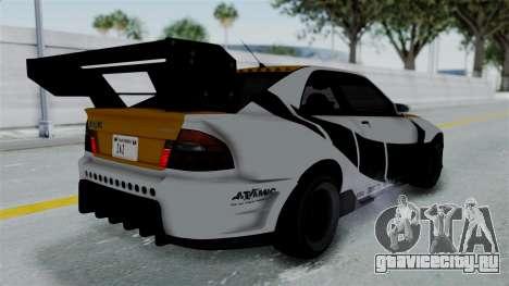 GTA 5 Karin Sultan RS Drift Big Spoiler PJ для GTA San Andreas вид сбоку