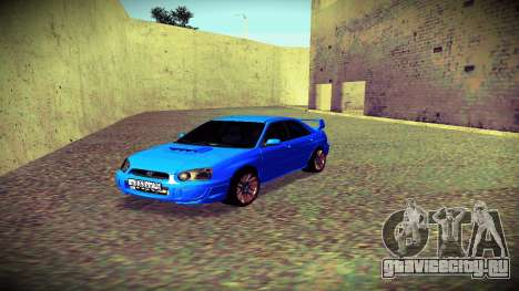 Subaru Impreza WRX STi Civil для GTA San Andreas вид изнутри