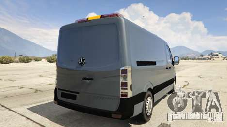 Mercedes-Benz Sprinter Worker Van для GTA 5 вид сзади слева