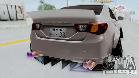 Toyota Mark X Slammed для GTA San Andreas вид сзади