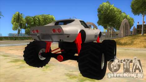 1968 Chevrolet Corvette Stingray Monster Truck для GTA San Andreas вид справа