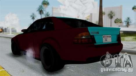 GTA 5 Karin Sultan RS Stock для GTA San Andreas вид слева